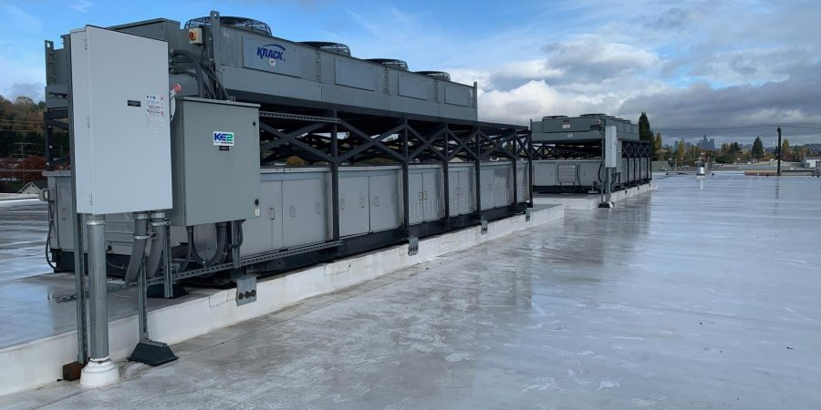 Rooftop HVAC equipment
